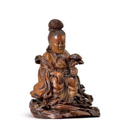 竹雕麻姑獻壽(18世紀)