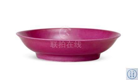 胭脂紅釉盤(清雍正)