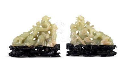 黃玉鏤雕歲寒三友擺件(18世紀)