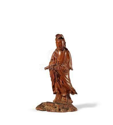 黄杨木雕观音像