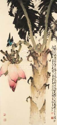 Zhao Shao'ang (1905-1998)  Plantain Tree
