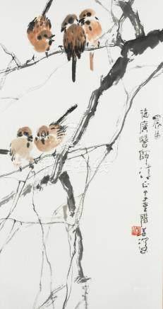Yang Shanshen (1913-2004) Sparrows