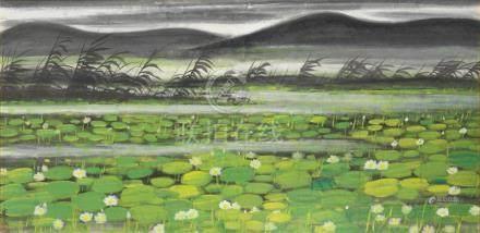 Lin Fengmian (1900-1991)  Lotus Pond