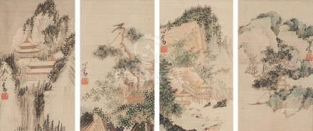 Pu Ru (1896-1963) Four Seasons (4)