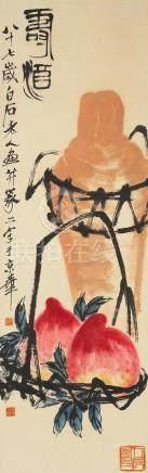Qi Baishi (1864-1957)  Longevity Peaches and Wine