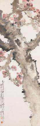 Zhao Shao'ang (1905-1998) Cotton Tree Flower