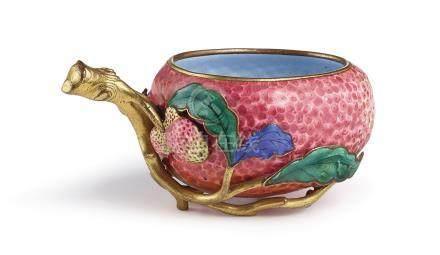 清十八世紀   廣東銅胎畫琺瑯荔枝水丞