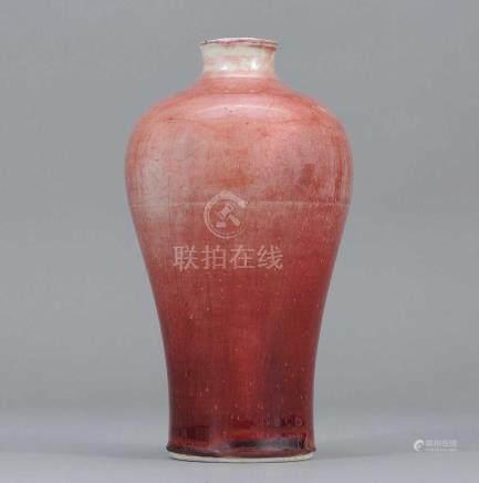 清乾隆 紅釉梅瓶