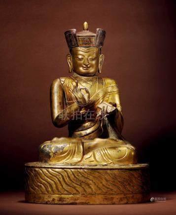 十六世紀 西藏 銅鎏金大寶法王噶瑪巴