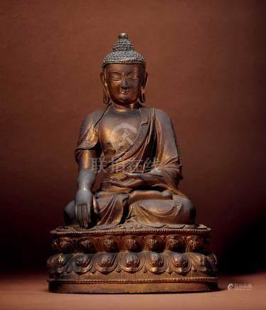 十七世紀  銅鎏金釋迦牟尼佛