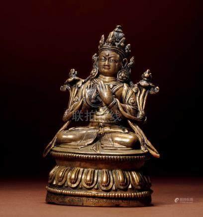 十五世紀 漢藏 銅彌勒菩薩