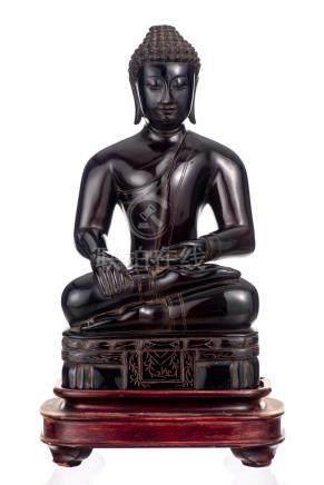 Bouddha en ambre rouge de Sibérie