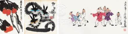 陳綺蓮 嬰戲圖 / 萬事如意圖 佚名 / 貓咪圖