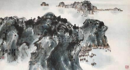 譚南華 山水圖
