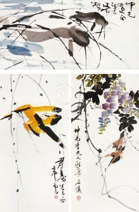 佚名 黃鳥 / 紫籐 / 魚