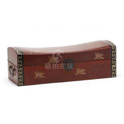 Chinese Leather Pillow Box