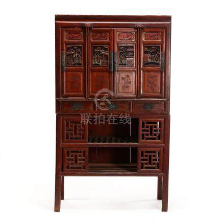 Chinese Qing Dynasty \Seasons\ Cabinet