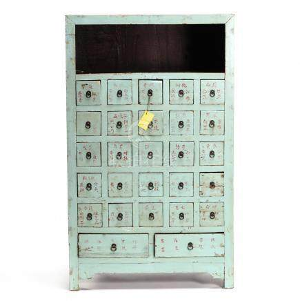 Antique Chinese Painted Apothecary Chest