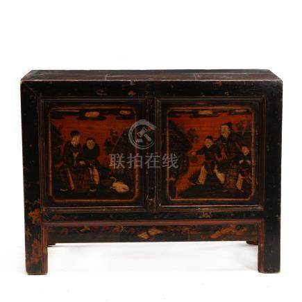 Chinese Painted Storage Cabinet