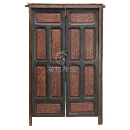 Tibetan Painted Doors and Frame