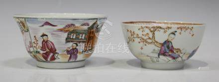 A Chinese famille rose export porcelain bowl, Qianlong period, the exterior painted in the