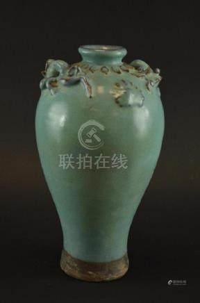 Chinese Blue Glaze Vase