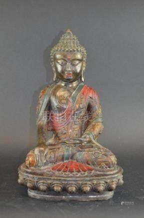 Chinese Seated Buddha on Lotus Base