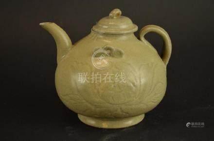 Chinese Celadon Glaze Tea Pot
