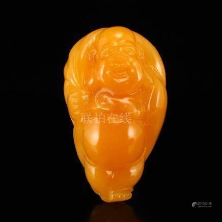 Indonesia Jin Tian Huang Laughing Buddha Pendant