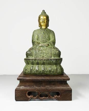 China Guanyin Bronze Buddha statue 1950
