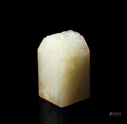 民國 魚腦凍壽山印章