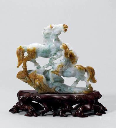 翡翠 雙馬