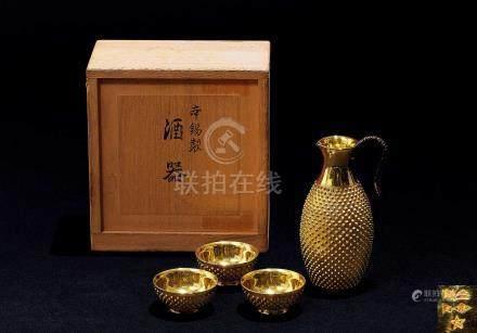 純金散紋杯酒器