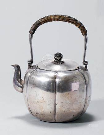 銀瓶 南瓜型   (少損)