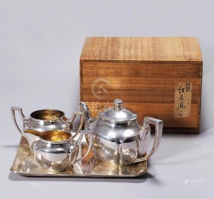 純銀茶具 一組四件
