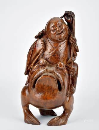 18世紀 竹雕劉海戲蟾擺件