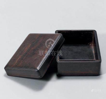 明 紫檀大方盒