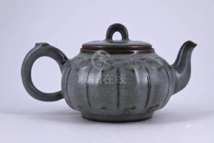 Song Guanyao Porcelain TeaPot