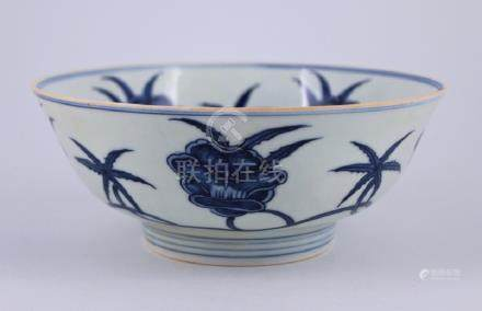 Ming Blue&White Floral Bowl
