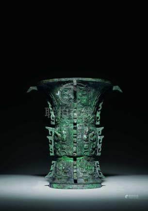 商  青銅饕餮紋出戟尊