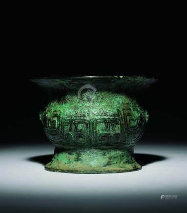 西周  青銅鳳紋銅盂