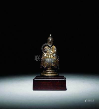 唐  銅鎏金小佛像
