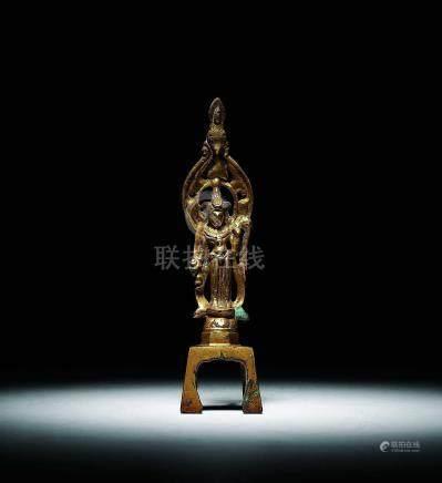 唐  鎏金觀音菩薩像