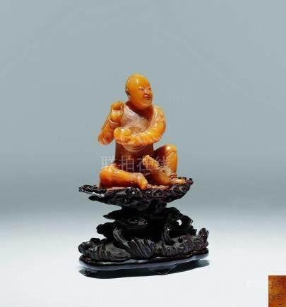 清  黃壽山石雕羅漢