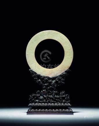 明  老玉龍紋環