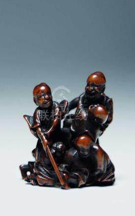 黃楊木微雕人物