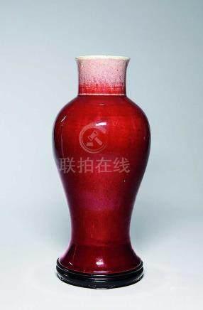 清  紅釉梅瓶