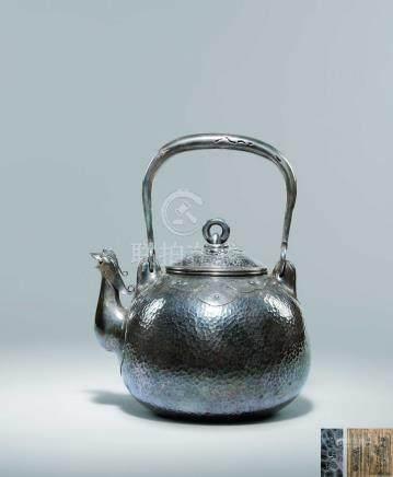 名越 弥五郎 鳳凰口寶珠形鐵瓶