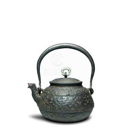 初代藏六造 龍首鐵壺