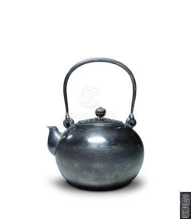 純銀槌目湯沸